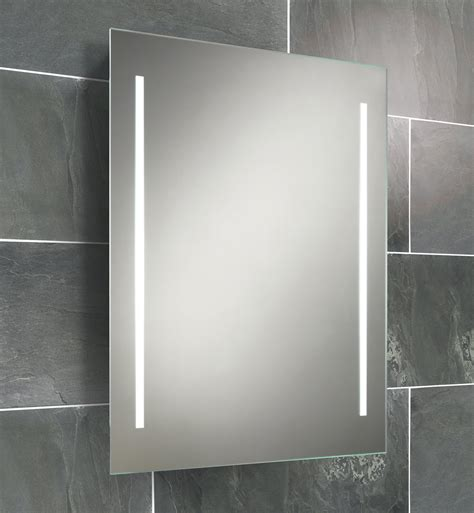 Small Illuminated Bathroom Mirrors by Hib Casey Fluorescent Back Lit Mirror 600 X 800mm 77309000