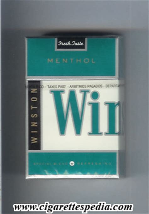 Winston (with vertical small 'Winston') (Menthol) KS-20-H