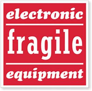 fragile shipping labels sku d1039 With electronic shipping label