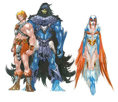 breakdown masters   universe character designs dc