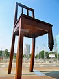 POSTCARDS FROM THE AIR: Geneva - Broken Chair Monument