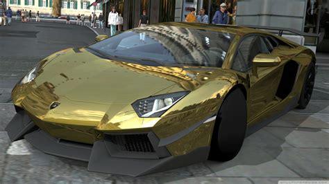 Lamborghini Aventador Black And Gold Wallpaper