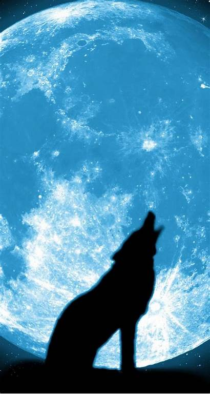 Wolf Moon Iphone Howling Wallpapers Wolves Background