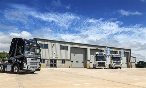 volvo truck dealers uk truck bus wales and west open new build dealership at