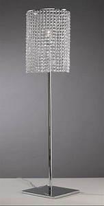 Lampe Mit Kristallen : stehlampe aus chromemetall mit kristallen lixa ~ Orissabook.com Haus und Dekorationen