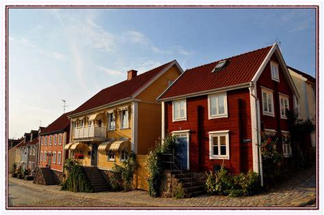 Entlang Der Bunten Häuser Foto & Bild