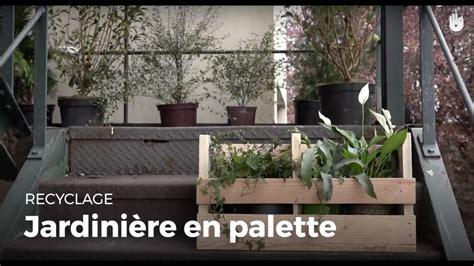 fabriquer une jardini 232 re en bois de palette recycler