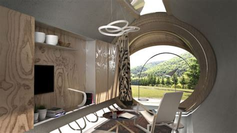 Capsule shaped Drop XL is self sustainable cabin for