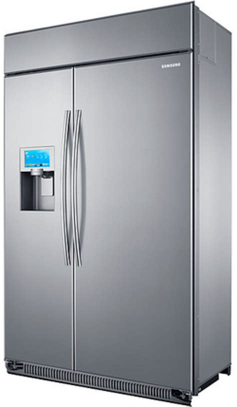 48 Cabinet Depth Refrigerator by Rs27fdbtnsr Samsung 48 Quot Counter Depth Bulit In Side By
