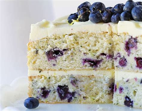 lemon blueberry cake   baker