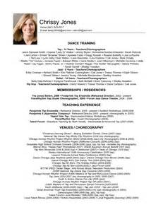 professional resume layout exles experienced level dancer resume template dance resume template best business fashion