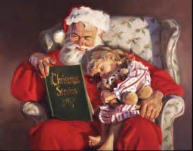santa reading christmas stories santa claus st nick father time christmas book related