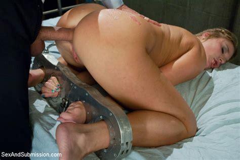 hard anal sex bondage with submissive female slave