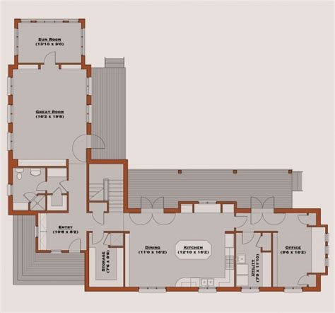 remarkable  shaped house plans  attached garage home