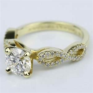 custom infinity twist diamond engagement ring 130 ct With infinity twist wedding ring