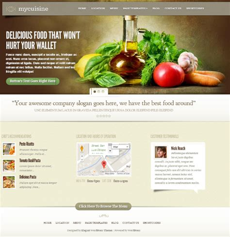 cuisine site how to build a restaurant website with