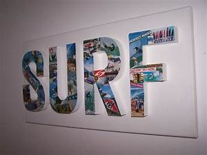 3d letter surf surfing canvas decoupage wall art hanging for 3d letter wall art