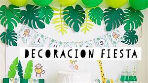 decoracion fiesta de la selva YouTube
