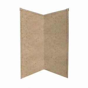shop transolid decor sand castle shower wall surround With kitchen cabinets lowes with decorative wall panel art