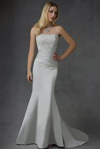 simple satin wedding gowns for your second time around With 2nd time around wedding dresses