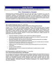 Environmental Engineer Resume Objective by Free Civil Environmental Engineering Resume Exle
