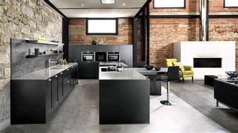 deco cuisine industriel cuisine 233 quip 233 e style industriel avec 238 lot central coloris gris quot ilot tr 233 sor quot schmidt