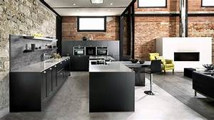 Cuisine Style Industriel Ikea : cuisine quip e style industriel avec lot central coloris ~ Melissatoandfro.com Idées de Décoration