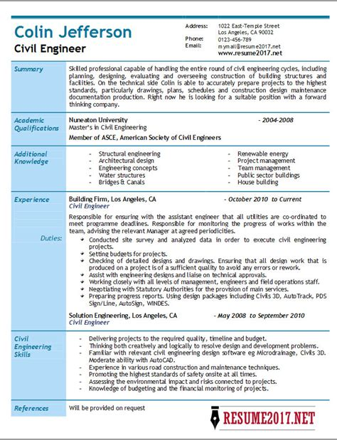 civil engineering resume 28 images resume director of