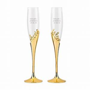 Gold Champagne Glasses – Cheers To Love – Kudos