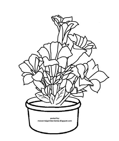 Coloring Bunga by Mewarnai Gambar 20 Mewarnai Gambar Bunga