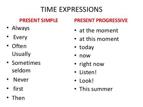 present simple  present progressive