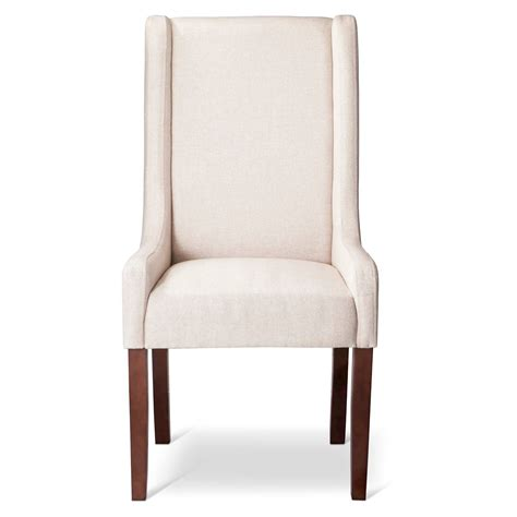 modern wingback swoop arm dining chair beige 1 pack ebay