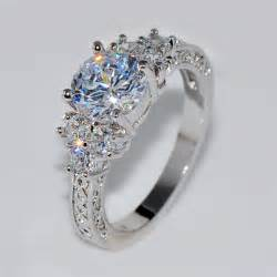 splendent white stylish jewelry wedding ring anel aneis white gold filled - Discount Wedding Rings