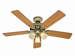 Inch light ceiling fan brass