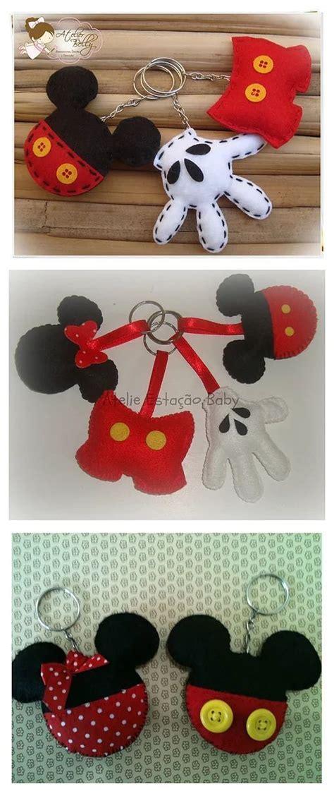 Chaveiro em homenagem ao Mickey com molde gratuito e PAP ...