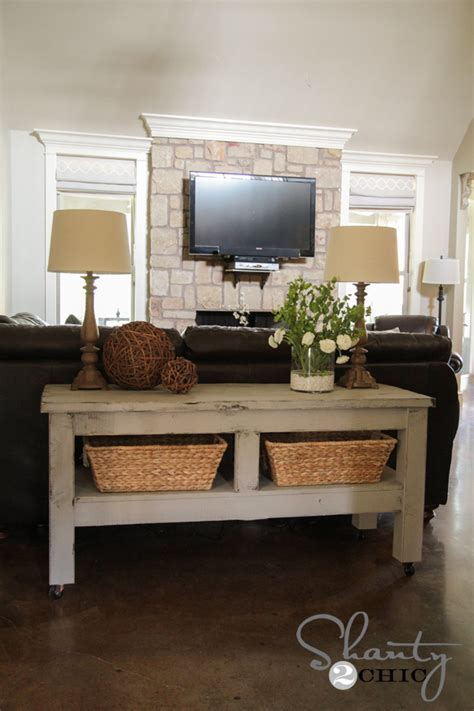 table behind the sofa build a sofa table free pdf woodworking build a