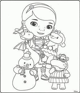 Doc Mcstuffins Christmas Coloring Pages - AZ Coloring Pages