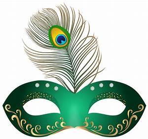 Green carnival mask clip art image - Clipartix