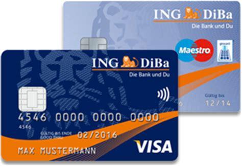 kostenloses ing diba girokonto mit kreditkarte im test