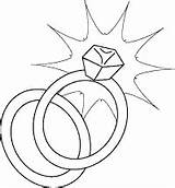 Coloring Ring Printable Rings Diamond Sheet Pages Engagement Clipart Band Line sketch template