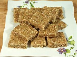 Flax Seed Burfi (Flaxseed Healthy Bar) - Manjula's Kitchen ...