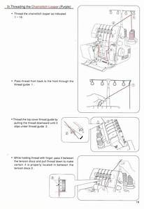 Singer 14u557 Overlock Sewing Machine Manual
