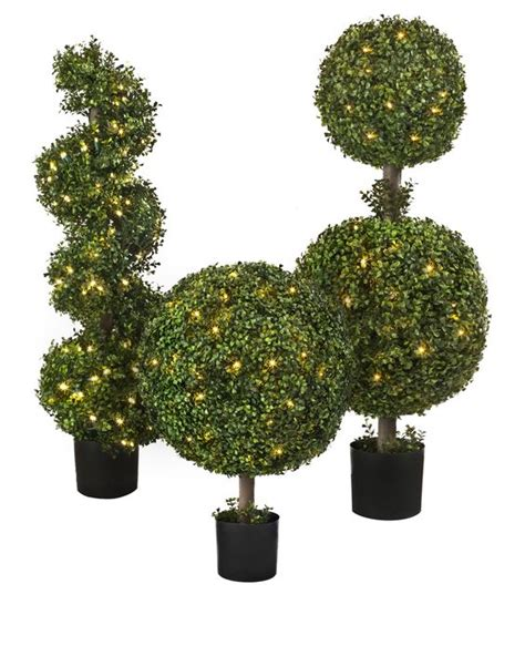 Outdoor Led Boxwood Topiary  Balsam Hill Porch