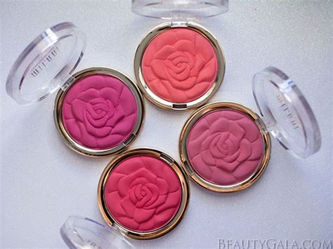 milani limited edition rose powder blush swatches review