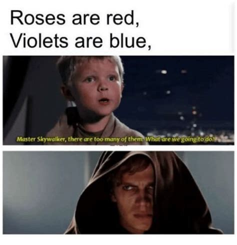Roses Are Red Violets Are Blue Memes - emo anakin emo anakin twitter