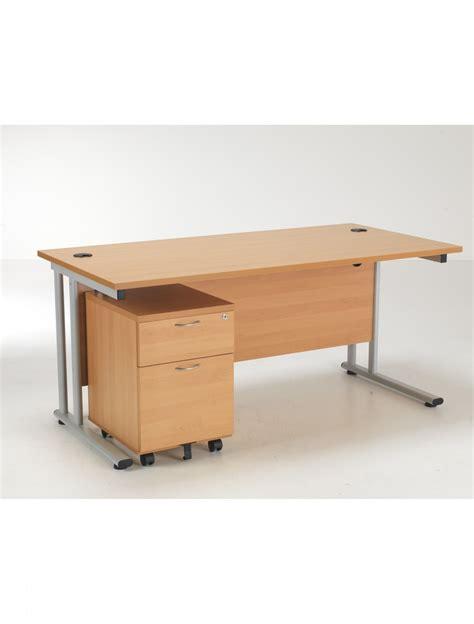 bureau desk tc desk and pedestal lite1680bund2be 121 office furniture