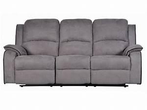 Relaxsofa 3 Sitzer : relaxsofa microfaser 3 sitzer herna grau g nstig ~ Watch28wear.com Haus und Dekorationen