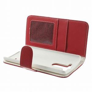 LG G3 S Red Litchi Leather Wallet Case