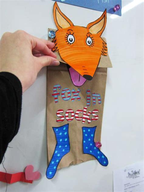 template   fox  socks paperbag puppet dr