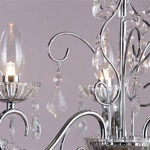 Vara 3 light bathroom chandelier chrome from litecraft for Chandeliers for bathrooms uk